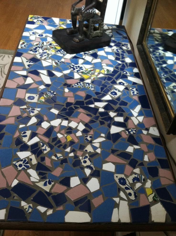 Broken tile mosaic design : Ceramicas : Pinterest : Tile mosaics, Mosaics and Mosaic designs