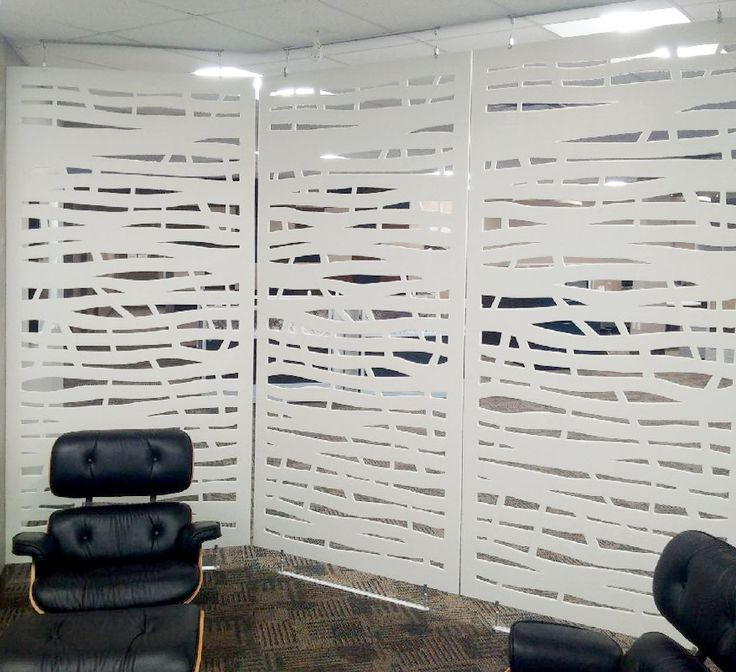 Bamboo Work Zone Dividers used to create wall divisions