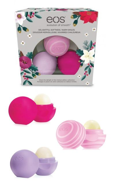 I love this EOS Holiday 2016 Lip Balm Collection. It is a good gift for her unde...