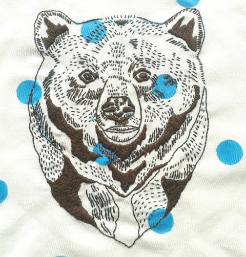 Bear. Embroidery pattern pdf. Hand embroidery design. DIY wall art. Statement wall art.Cushion cover design.DIY home decor.Bear illustration by jennyblairart on Etsy https://www.etsy.com/listing/241102605/bear-embroidery-pattern-pdf-hand