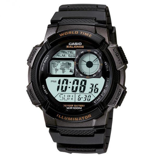 Descrição do produto Relógio Masculino Casio Digital, 200m,com vidro mineral resistente arranhões, pulseira de resina , horário mundial ate 48 cidades, cronometro progressivo e regressivo, 5 alarmes, calendário automático,formato 12/24horas...