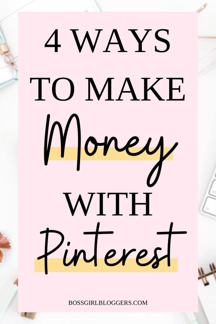 4 Möglichkeiten, mit Pinterest Geld zu verdienen. So verdienen Sie online Geld und arbeiten von zu Hause aus. …   – Blogging Tips + Tricks Collab Board