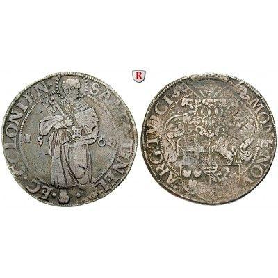 Köln, Bistum, Salentin von Isenburg, Taler 1568, ss+/ss: Salentin von Isenburg 1567-1577. Taler 1568 Deutz. Dav. 9126; sehr schön +… #coins