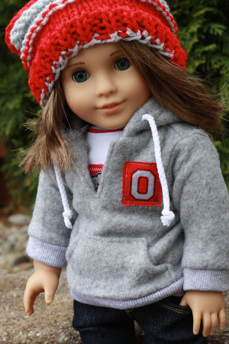 American Girl Doll Clothes OSU Ohio State Brutus Knit