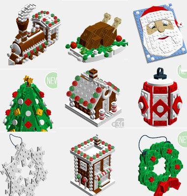 Christmas lego build ideas (with instructions) / Karácsonyi témájú és Mikulás legó építési ötletek (útmutatóval) / Mindy - craft tutorial collection