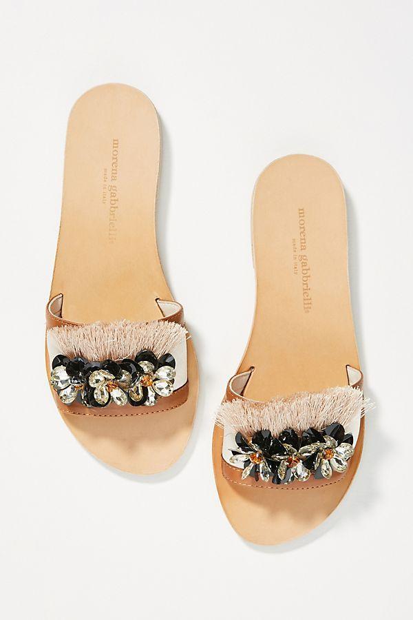 1ac2bf0227ab Slide View  1  Morena Gabbrielli Raso Fringe Slide Sandals
