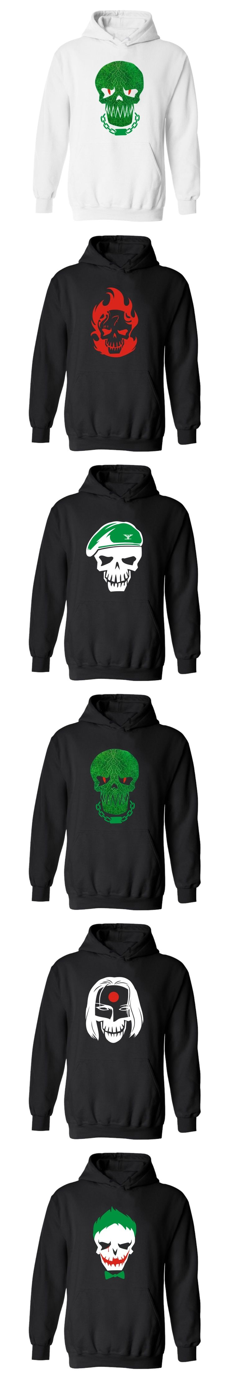Hero Suicide Squad Joker Punk Hooded Hoodies Men Hip Hop Fashion Funny Sweatshirt Men Hoodie Casual Winter Clothes High Quality