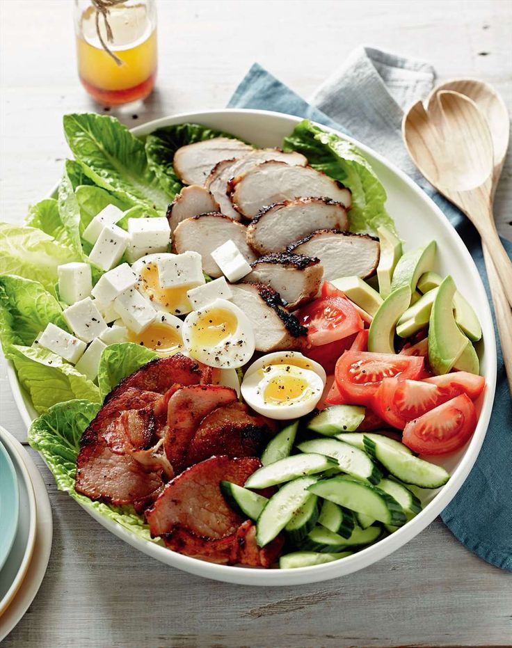 Chicken cobb salad by Jane Kennedy from One Dish.Two Ways | Cooked