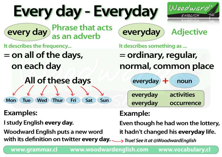 The difference betwen Every day and Everyday in English #grammar #english