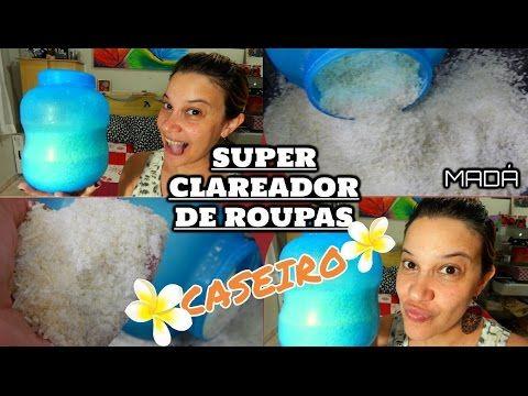 SUPER CLAREADOR DE ROUPAS CASEIRO