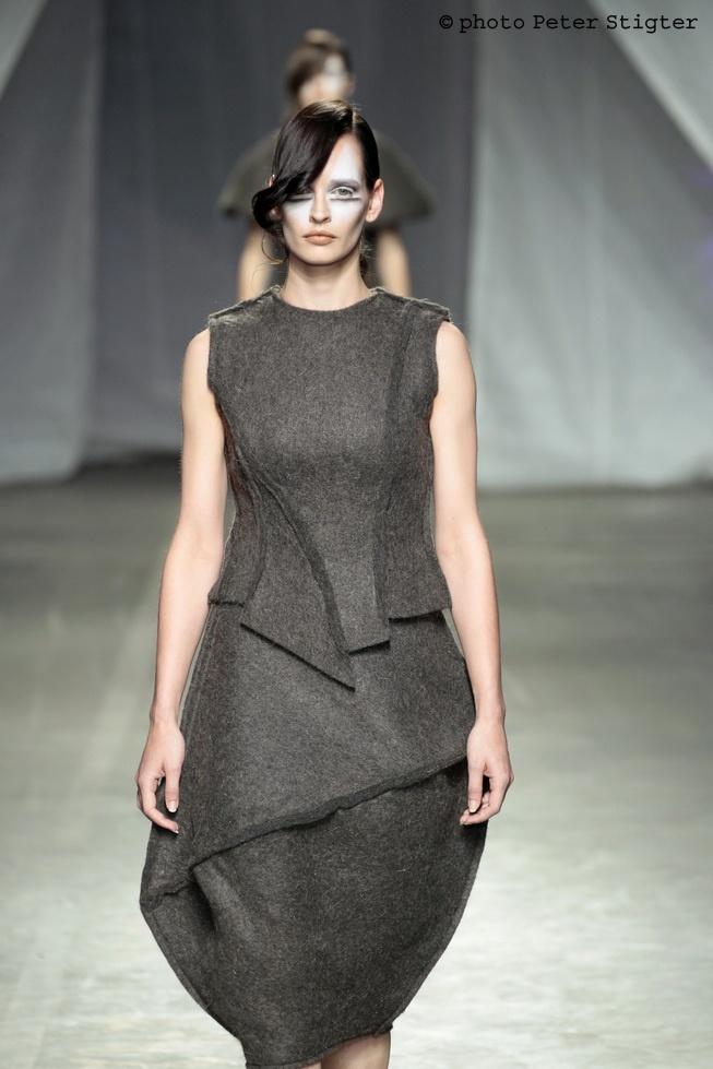 Aleksandra Lalic 'Hair Dress' - felted human hair