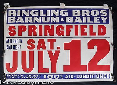 RINGLING BROS BARNUM & BAILEY CIRCUS AIR CONDITIONED! GRAPHIC CIRCUS POSTER 1936