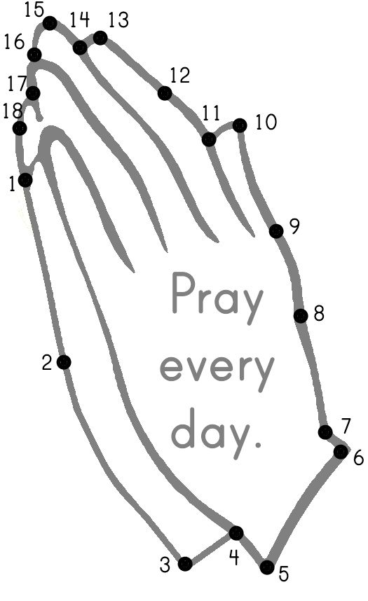 Praying Hands Dot-to-Dot