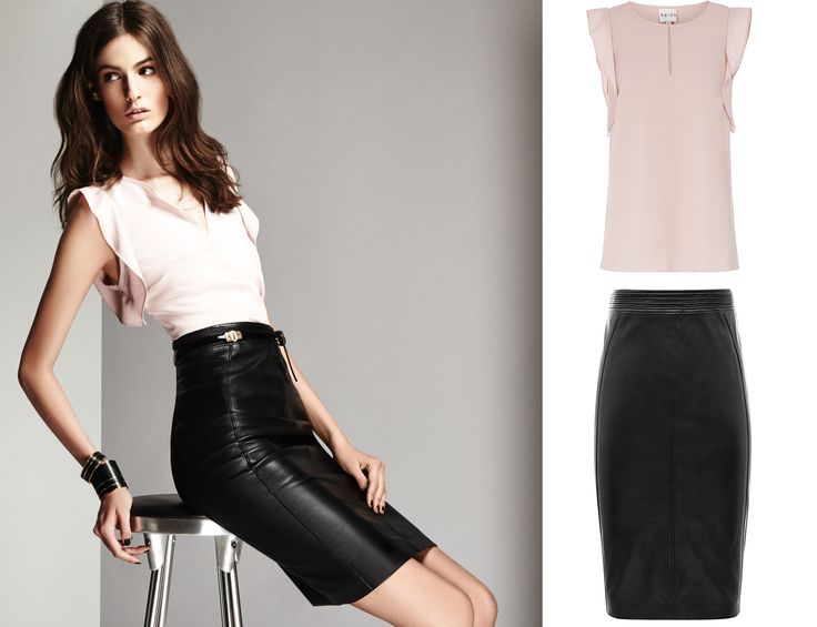 Our Gabriel Blossom Pink Ruffle Shoulder Top is the perfect pairing to your staple leather skirt
