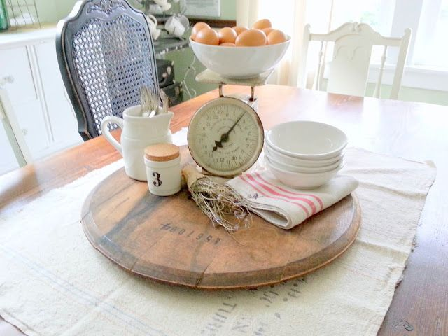 must love junk: Farmhouse Table Centerpiece
