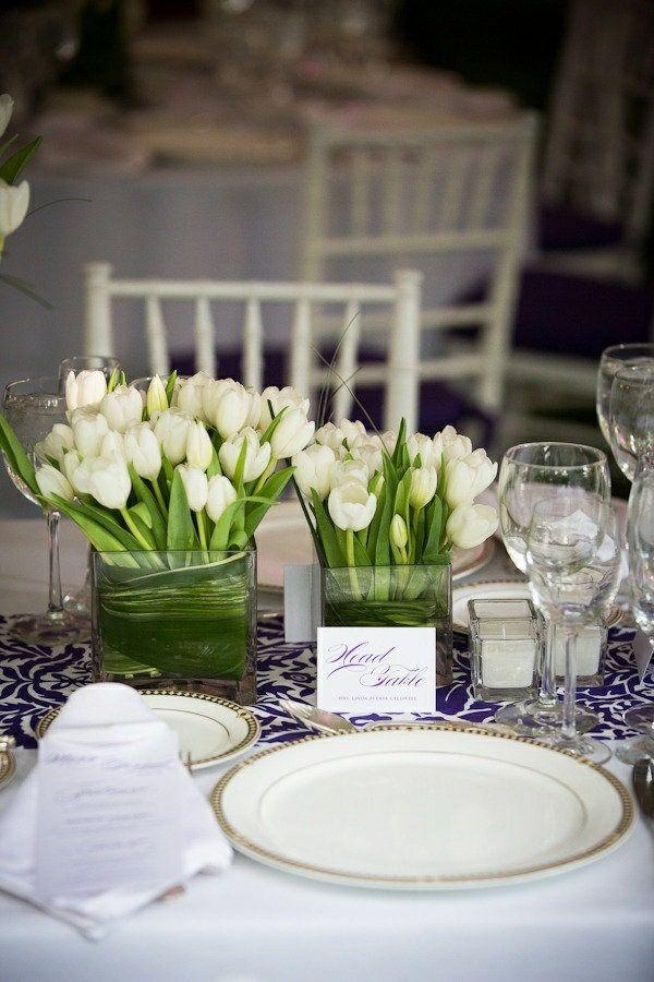 elegante tischdeko mit tulpen festliche tischdeko ideen