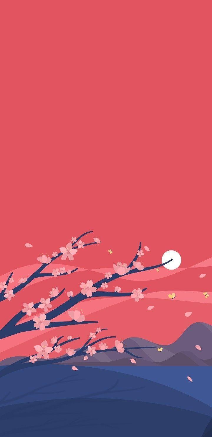 anime landscape minimal lock screen japanese minimalist android iphone paper phone aesthetic mawar instagram backgrounds mujeralia ru