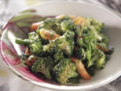 Roasted Broccoli and Carrots with Carrot Top Pesto Recipe | Trisha Yearwood | Food Network