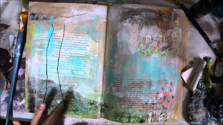 ' i will paint the sky your favourite colour'- mixed media art journal b...