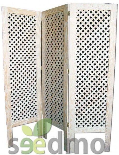 Biombo de 3 hojas con celosia decoracion hogar tu tienda for Biombos exterior ikea