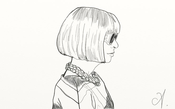 Anna Wintour drawing