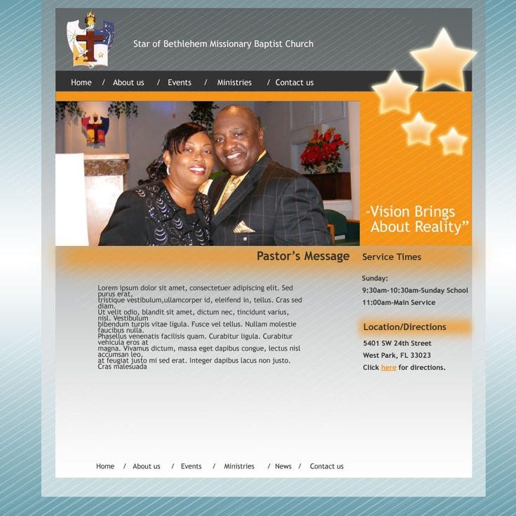 Idea for Website for Star of Bethlehem Church