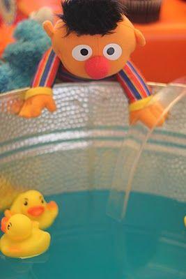 ernie's rubber duckie punch...blue gatorade (or punch) love it