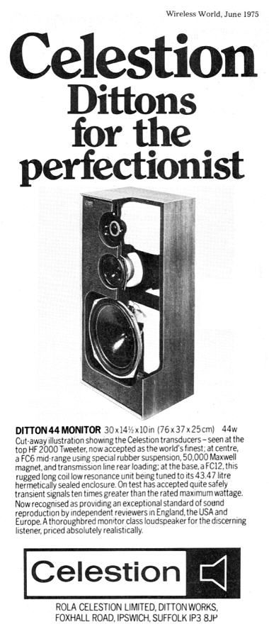 Celestion Ditton 44 Manual / Brochure Scans in 2019