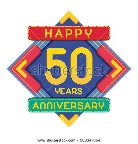 50 Years Anniversary Celebration Design.