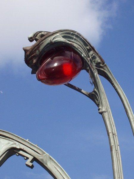 Art Nouveau street lamp
