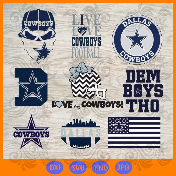 Dallas cowboys bundle logo SVG, DXF, EPS, PNG Instant