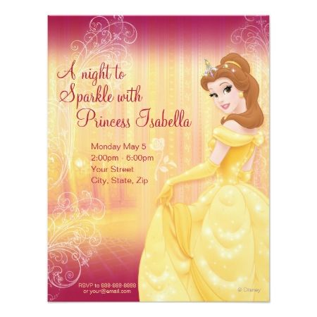 Belle Birthday Invitation - click to get yours right now!