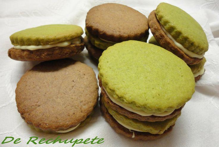 Galletas de te verde matcha y chocolate