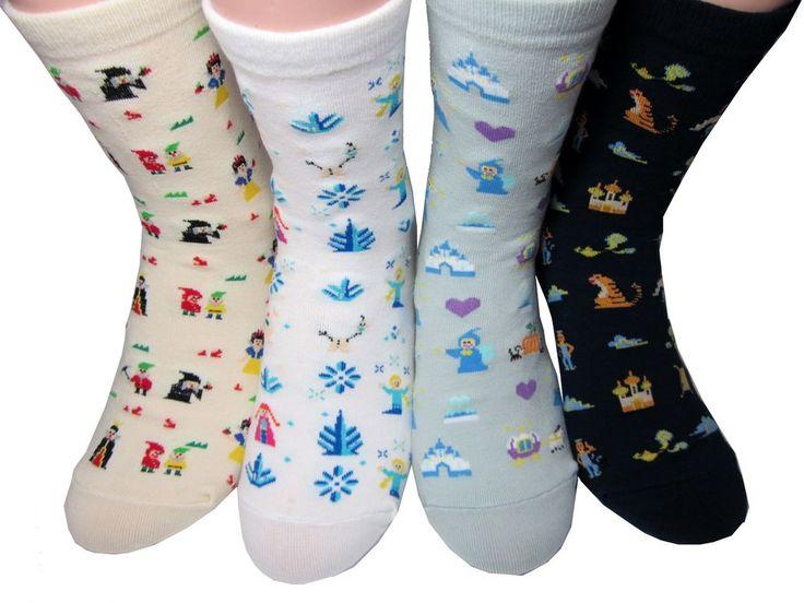Princess Cartoon Character Socks 4 Pairs Color Cute Sneakers Funny Novelty  #GGORANGNAE #Casual #CharacterSocks #women #Kid #Girl #Lady #Funny #Novelty #Pattern