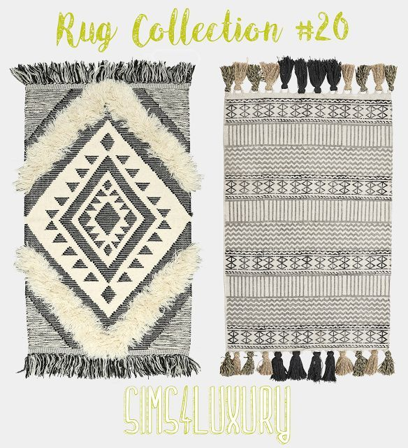 Sims 4 CC's – The Best: Rugs by sims4luxury – #CC3…