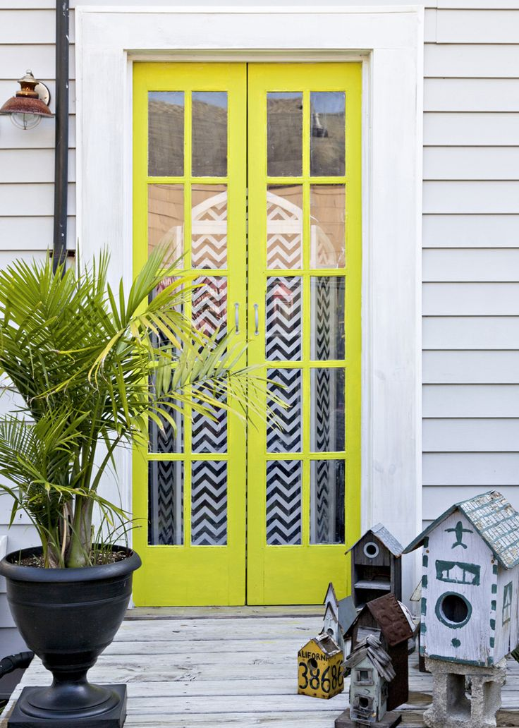 Rue Magazine (May 2012  Issue). Photography by Sara Essex Bradley. Design by Valorie Hart.The Doors, Green Doors, 2012 Issues, French Doors, Front Doors, Rue Magazines, Essex Bradley, Yellow Doors, Doors Colors