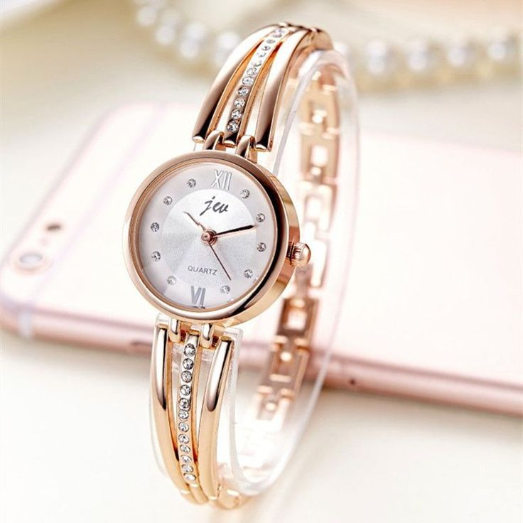 New Fashion Rhinestone Watches Women Luxury Brand Stainless Steel Bracelet watches Ladies Quartz Dress Watches reloj mujer AC070 - envíos gratis en todo el mundo