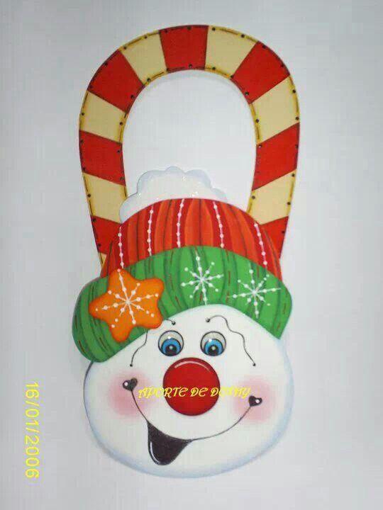 puerta navidad navideas adornos navideos madera goma eva moldes mueco nieve colgantes