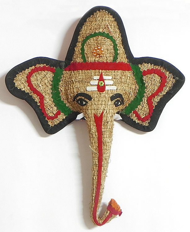 Ganesha Face (Khuskhus Root and Cloth)