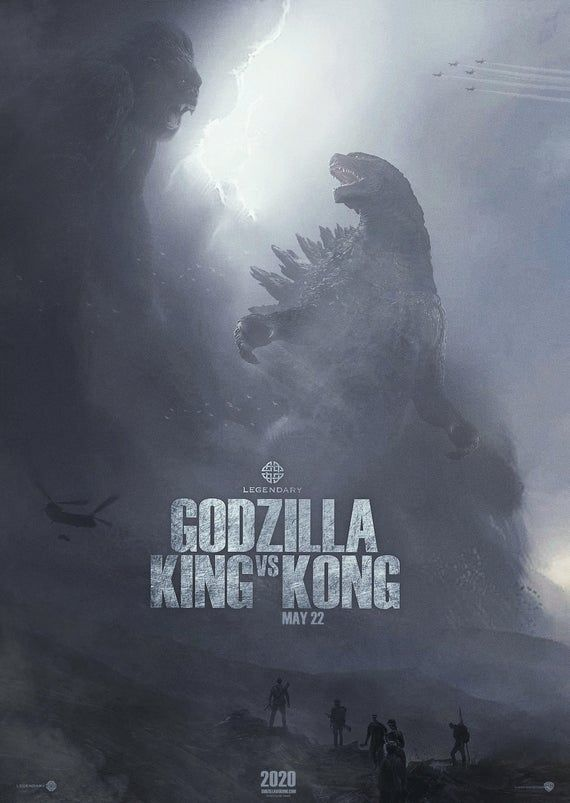 Poster Godzilla Vs King Kong New 2020 Movie Godzilla King Kong Vs Godzilla Godzilla Vs
