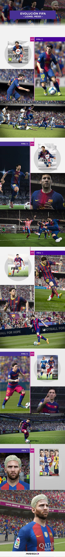 ¿Ya tenés el #Fifa17? Mirá la evolución de Messi desde el inicio del juego hasta ahora. ¡Conseguí este y otros juegos en Frávega!