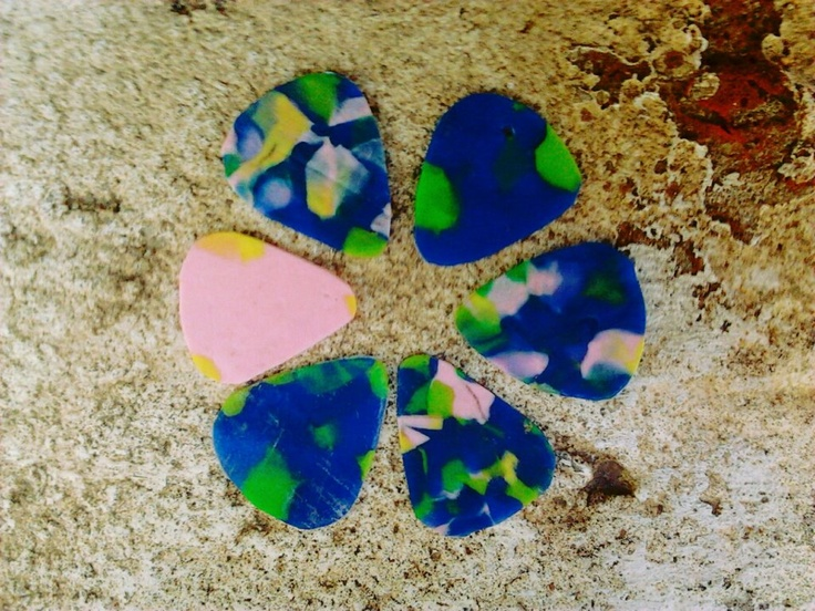 recycled guitar picks
