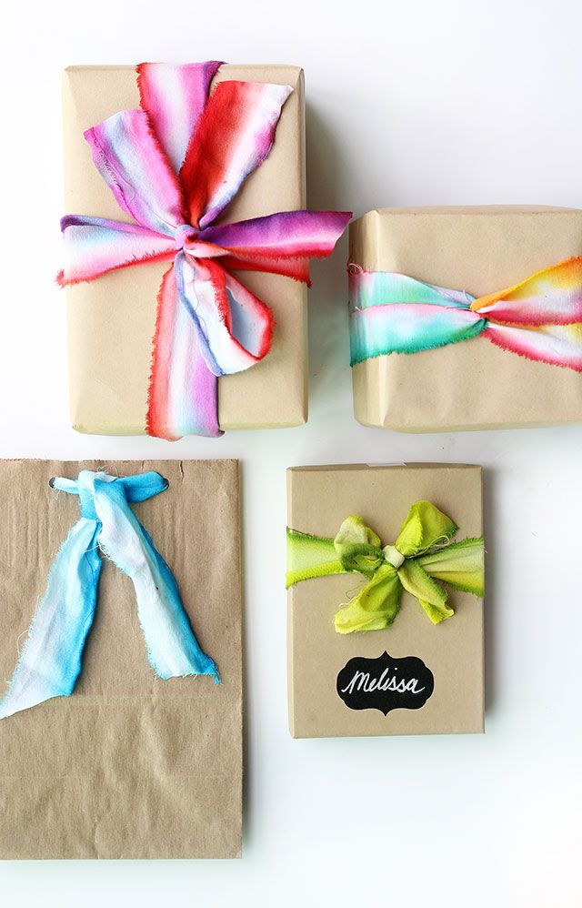 bridal shower poem for not wrapping gifts%0A DIY  how to dip dye ribbon  Wrap GiftsDiy