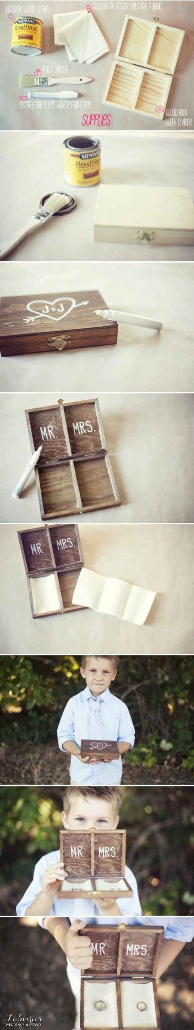 This is so awesome and the feel I want - Ring bearer's box instead of a pillow. | 23 Unconventional But Awesome Wedding Ideas