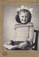 vintage childs fair isle jumper 1940