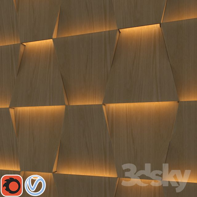 3d wall panel with indirect light