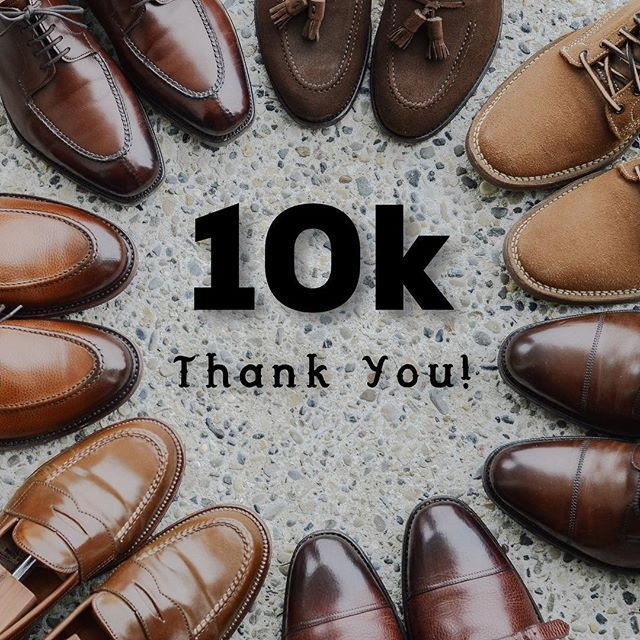 Over the weekend I surpassed 10000 followers!! . I wanted to thank all of you for making this past year on Instagram a blast. I appreciate every single like comment and message from all of you. I look forward to the next 10k! . Starting at 12 o clock we have the @morjasshoes tassel loafer @viberg boondockers via @rivetandhide @edwardgreen1890 Galway @carlossantosshoes double monks via @skoaktiebolaget @aldenshoeco @horweenleather whiskey cordovan LHS @berwick1707_official U-tip via…