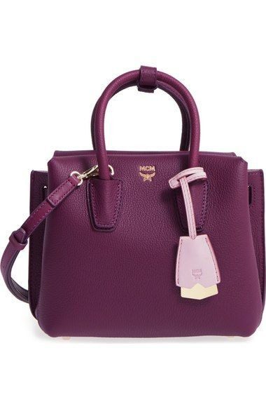 MCM Mini Milla Leather Satchel available at #Nordstrom