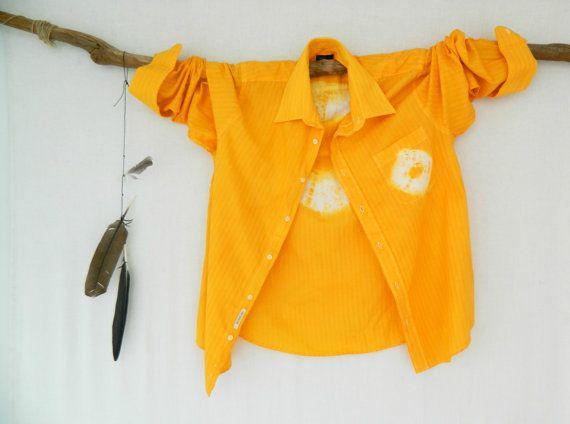 WANDERLUST . men's tie dye shirt . L  Large . by bohemianbabes