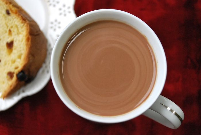 This Peruvian hot chocolate is creamy and delicious with hints of cinnamon and cloves. This hot chocolate is traditionally served with a slice of Panettone.